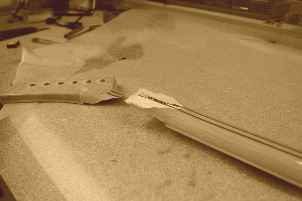 Bonding headstock cracks